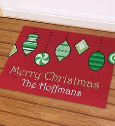 Personalized Christmas Ornaments Doormat