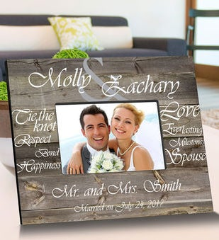 Personalized Tying The Knot Wooden Picture Frames