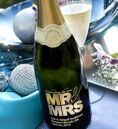 Mr  Mrs Personalized Wine Bottle