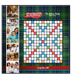 Plaid Custom Scrabble Game