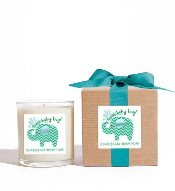 Personalized Sweet Baby Boy! Candle