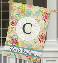 Personalized Modern Spring House Flag