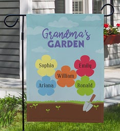 Personalized Grandmas Gard Yard Flag