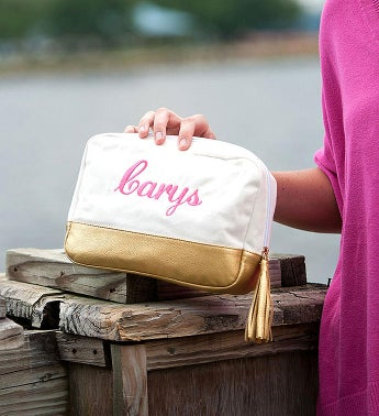 Personalized Cabana Cosmetic Bag