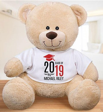 Personalized Graduate Hat & Diploma Sherman Bear