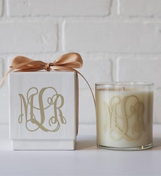 Personalized Monogram Candle