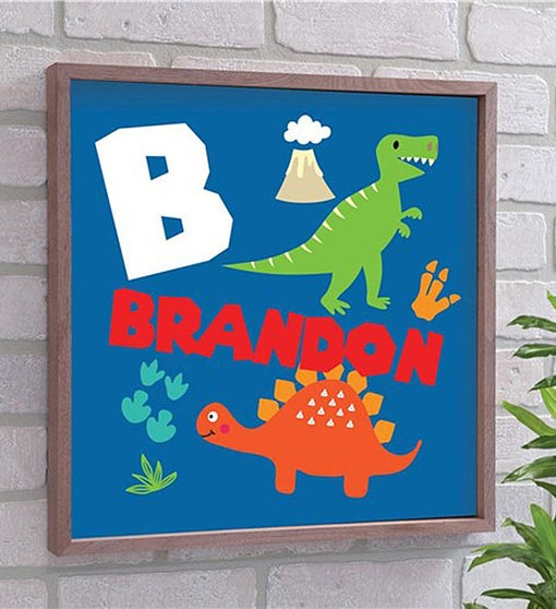 Personalized Kid's Dinosaur Wall Décor