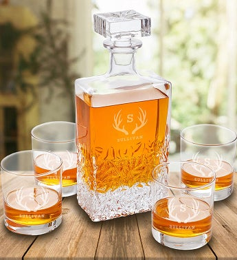 Personalized Kinsale Rectangular Whiskey Decanter