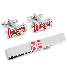 Nebraska Cornhuskers Cufflinks  Tie Bar Gift Set