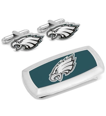 Philadelphia Eagles Cufflink & Cushion Money Clip
