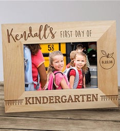 Personalized First Day of School Wood Frame