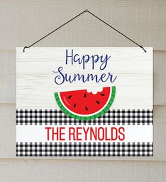 Personalized Happy Summer Wall Sign
