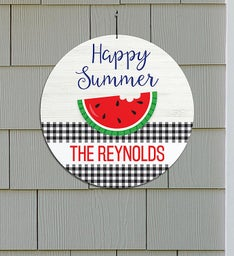 Personalized Happy Summer Circle Sign