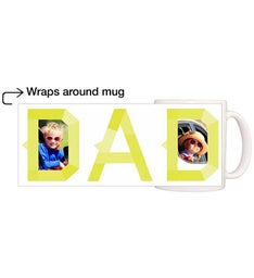 Personalized Neon Dad Magic Mug