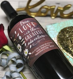 Personalized Love Adventure Labeled Wine