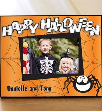 Personalized Happy Halloween Printed Frame