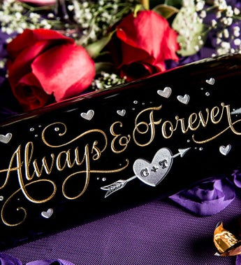 Always & Forever Personalized Wine Bottle