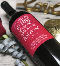 Eternal Love Personalized Labeled Wine