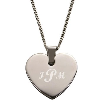 Personalized Heart Shaped Pendant  Necklace
