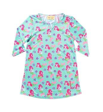 Personalized Mermaid Kisses Girls Tunic