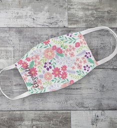 Floral Pattern Adult Face Mask