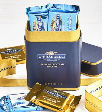 Ghirardelli Signature Chocolate Squares Box 10pc