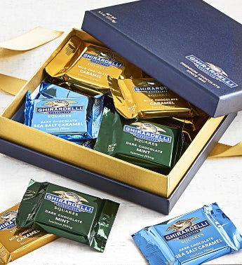 Ghirardelli Signature Chocolate Squares Box 18pc