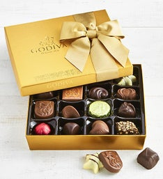 Godiva Gold Ballotin Chocolates Box - 19 piece