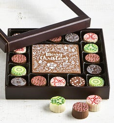 Simply Chocolate Holiday Bar  Truffles 17 pc