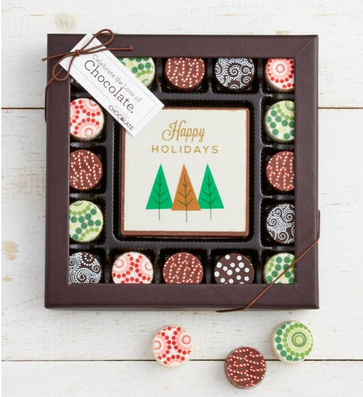 Simply Chocolate Holiday Bar & Truffles 17 pc