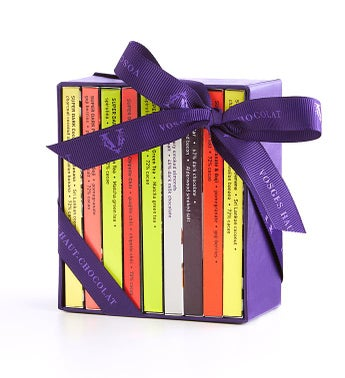 Vosges Exotic Mini Chocolate Bar Library 9 Bar Box