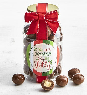 Simply Chocolate Holiday Malted Milk Balls Jar