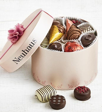 Neuhaus Belgian Chocolate Pink Luxury Hat Box