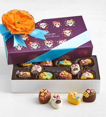 The Sweet Shop Drop Dead Gorgeous Skull Truffles