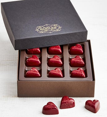 Kohler Dark Chocolate Raspberry Ganache Hearts