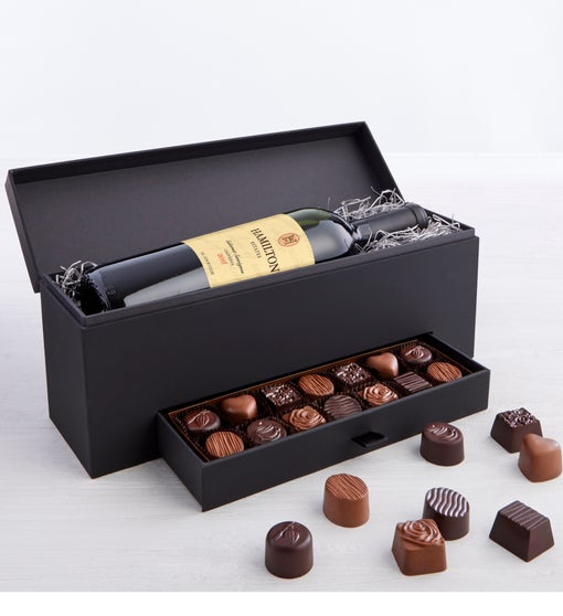 Simply Chocolate Premier Collection & Wine Box