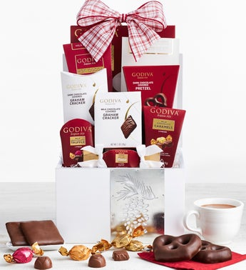 Godiva Winter White Wood Gift Box