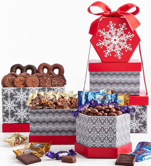Simply Chocolate Snowy Memories Gift Tower