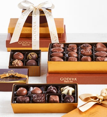 Deluxe Godiva Excellence Chocolates Tower