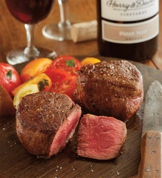 Grass-Fed Filet Mignon - Two 8-Ounce USDA Choice with Wine
