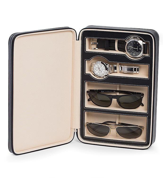Watch And Sunglass Travel Case