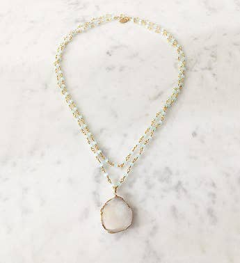 Double St Tropez Druzy Necklace
