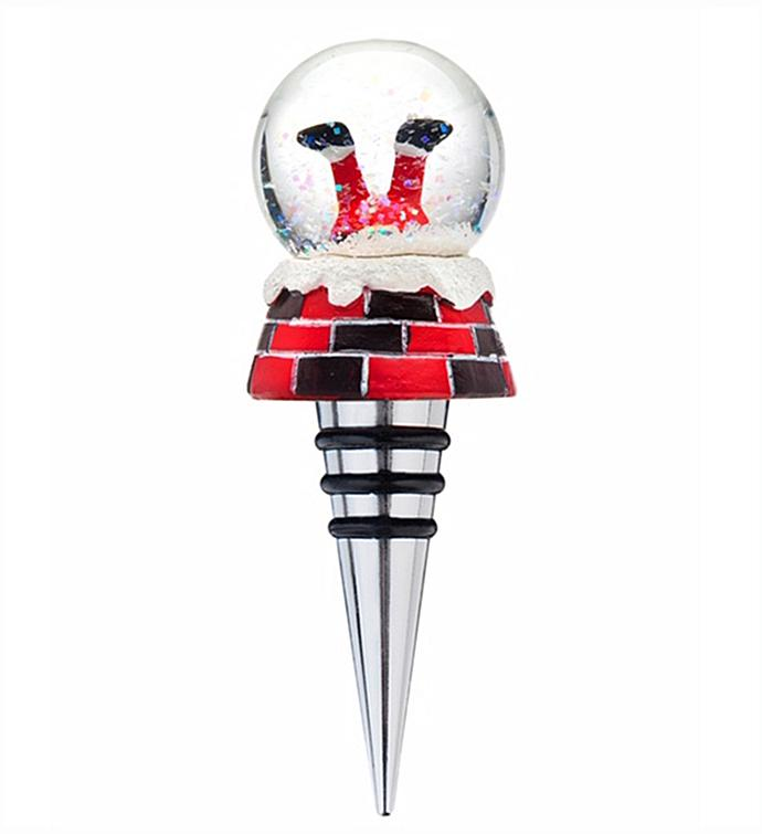 Santa Legs Bottle Stopper