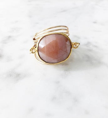 Torrey Ring Peach Moonstone