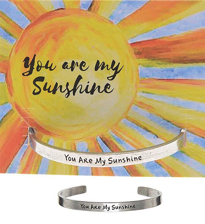 You are My Sunshine Quotable Cuff Bracelet