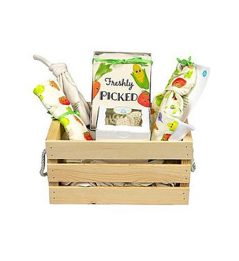 Organic Baby Gift Basket, Freshly Picked