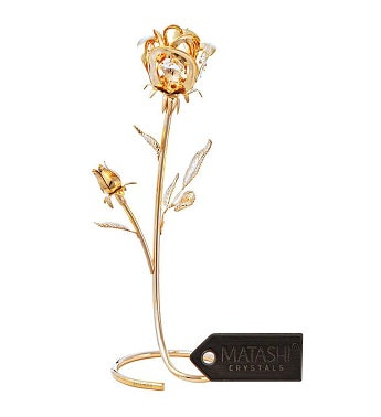 Everlasting Long Stem Rose Tabletop Ornament