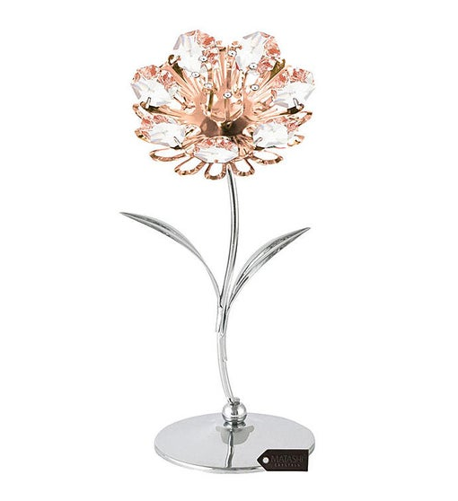 Chrome & Rose Plated Sunflower Table-Top Figurine