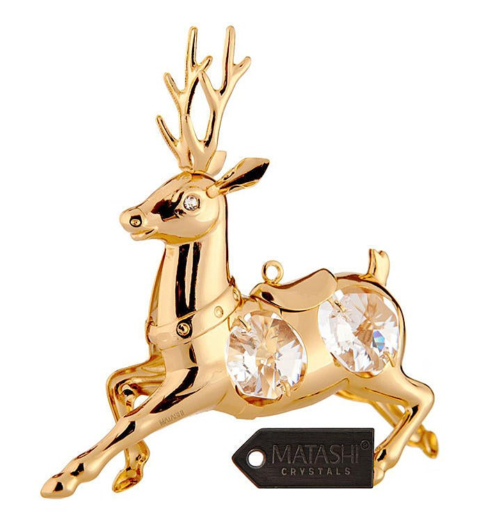 Gold Plated Winter Ornament