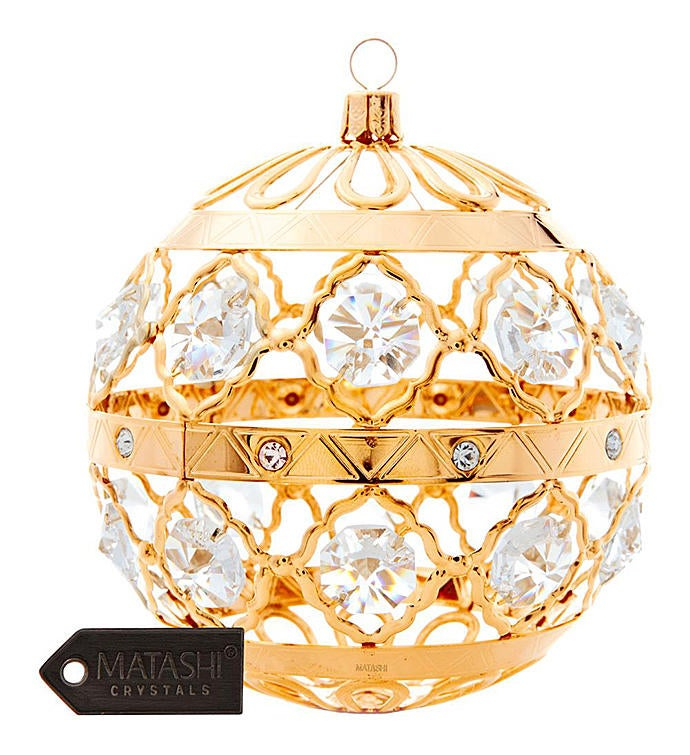 Gold Plated Christmas Ball Ornament